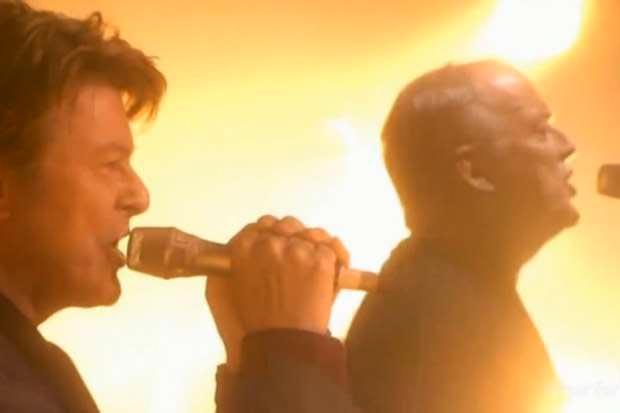 David Gilmour e David Bowie